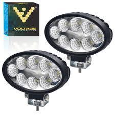 Off Road Flood Lights Voltage Automotive Led Work Light 24w 5 Inch Oval White Off Road Flood Light Daytime Driving Light 2 Pack
