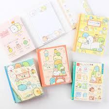1x cute kawaii sumikko gurashi 4 fold memo pads sticky notes paper bookmark stick label student