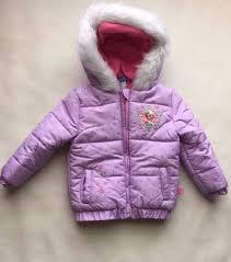 new toddler girls 2t disney anna elsa frozen coat puffer jacket purple