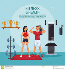 Fitness Health Fitness And Health Stock Vector Illustration Of Poster