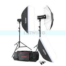 ox 600w photo studio flash lighting set 2 x 300w photography strobe light softbox light reflector portrait kit in photo studio accessories from