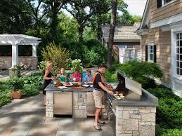 Outdoor Kitchen Countertops Pictures Tips  Expert Ideas HGTV - Outdoor kitchen countertop ideas