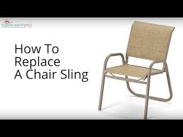 how to replace a chair sling you