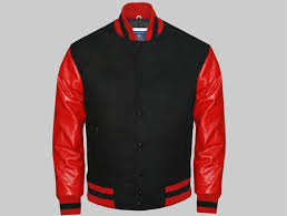 custom letterman jackets black and red