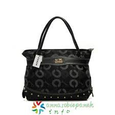 Coach Waverly Stud Signature Large Satchels In Black