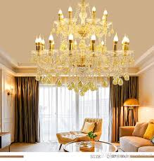noble luxurious k9 golden clear crystal chandelier 6 8 10 12 15 18 arms large size res de cristal light fixtures seashell chandelier chandelier lift