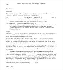 Letter Of Retirement Letter To Customers Announcing Resignation Or ...