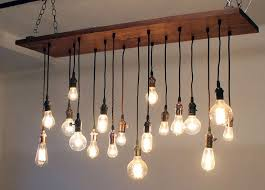 amazing hanging light chandelier reclaimed walnut barn wood chandelier with varying edison bulbs
