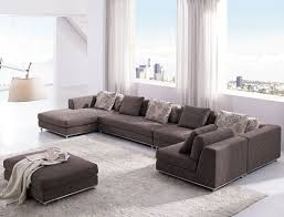 contemporary living room couches. Furniture: Superb Modern Living Room Sectional Sofa Furniture With Ottoman For Apartment - Contemporary Couches