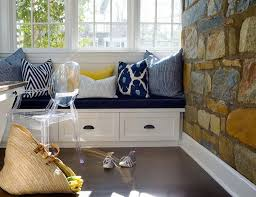 full size office home. Home Office With Stone Wall And Built In Window Seat Bench Pin It On Pinterest View Full Size