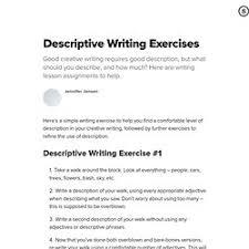 creative writing exercises adjectives creative writing exercises adjectives