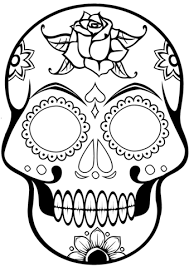 Small Picture Sugar Skull coloring page Free Printable Coloring Pages