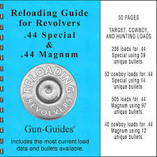 Unique Powder Reloading Chart Reloading Manual Book Revolvers 44 Spl 44 Magnum Guide Gun
