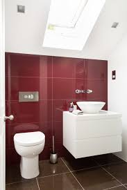 decorating a large wall bathroom contemporary with floating vanity red and white red wall tile