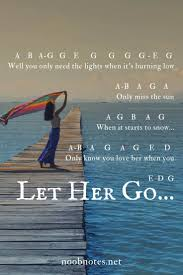 Learn, practice and enjoy your kalimba. Let Her Go Passenger Letter Notes For Beginners Music Notes For Newbies