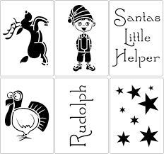 Christmas Stencils For Children To Buy Online