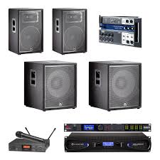 sound system for church. church sound system with 2 jbl jrx215 loudspeaker and crown xls 2502 amplifier for