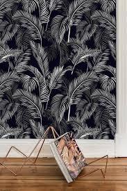 Zelfklevend Behang Palmblad Zwart Wit 60x244 Cm
