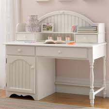 image of beauty white desk hutch