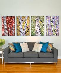 4 panel wall art birch trees  on birch tree wall art canada with one of a kind birch trees of canada canvas art panel series