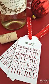 white christmas wine printable tag
