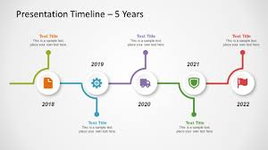 5 year timeline template free timeline template for powerpoint slidemodel