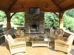 outdoor kitchens with fireplace. Fine With Outdoor Kitchen And Fireplace Photo  1 For Kitchens With K