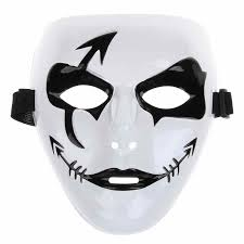 Plain White Masks To Decorate Fashion Halloween Mardi Gras Mask White Hip Hop Street Dancing 41