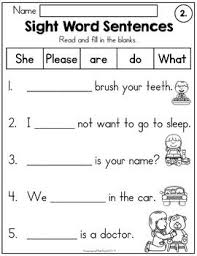 These phonics word families activity cards or strips are perfect for beginners. Sight Word Sentences Fill In The Blanks Sight Word Sentences Word Sentences Sight Words Kindergarten
