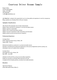 Resume For Courier Driver Free Resume Example And Writing Download