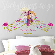 winsome inspiration headboard decal personalised frozen disney wall sticker in a girls room queen king twin