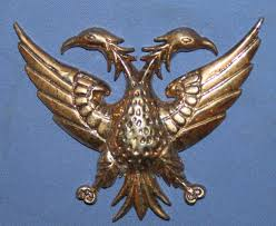 hand made brass double headed eagle wall decor plaque