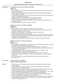 Senior Technical Support Engineer Resume Samples Velvet Jobs