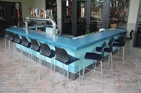 restaurant outdoor bar top smooth blue counter winner best concrete countertop