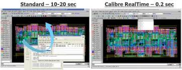 mentor calls this new tool calibre realtime and it works in a flow that uses the open access database a de facto industry standard ic layout designer