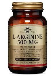 <b>L</b>-<b>Arginine 500 mg</b> - 100 Vegetable <b>Capsules</b>   Solgar Vitamins ...