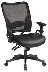 office star air grid mesh back office chair with leather seat