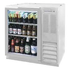 beverage air bb36hc 1 g s 36 1 section bar refrigerator swinging glass door 115v