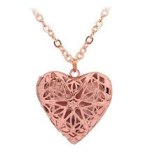 vintage hollow out filigree love heart photo locket pendant necklace mother s day gifts rose golden cw17z30xaml