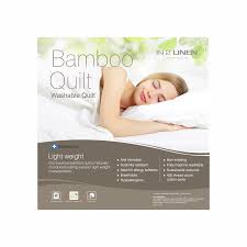 In 2 Linen Luxury Bamboo Rich Single Bed Quilt | Summer - In 2 Linen & In 2 Linen Luxury Bamboo Rich Single Bed Quilt | Summer Adamdwight.com