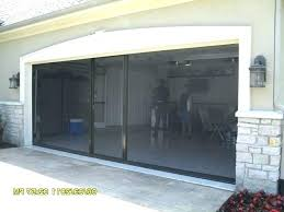single garage door screen doorway larson retractable single garage door screen
