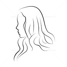 女性の横顔 イラスト素材 1219855 フォトライブラリー Photolibrary