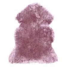 pink sheep skin rug sheepskin mauve pink rug