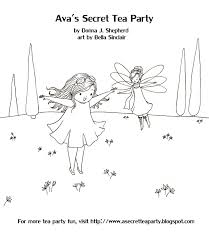 tooth fairy coloring page ava s secret tea party