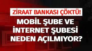 Ziraat Bankası Yine Çöktü! İnternet Bankacılığı Mobil Çalışmıyor İnternet  Hatası