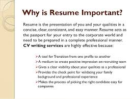 Why Is A Resume Important