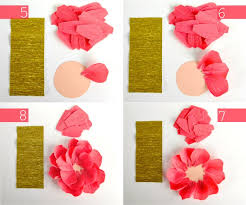 Making Flower Using Crepe Paper Diy Crepe Paper Flowers Oh My Handmade