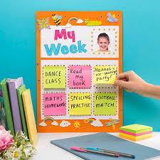 My Week Goal Chart Free Craft Ideas Baker Ross