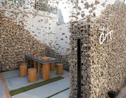 Small Picture Faire le mur Seoul Cafes and Gabion wall