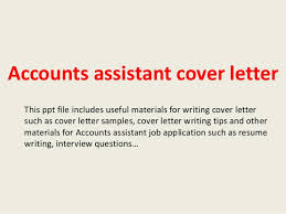 Accounts Assistant Cover Letter Photo Image Sample Accounting